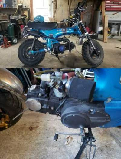 1971 Honda CT candy blue for sale craigslist photo