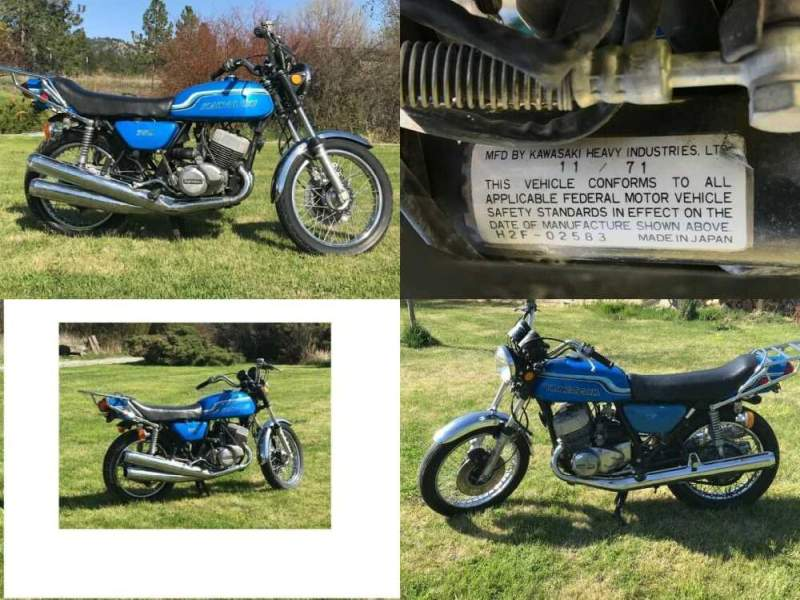 1971 Kawasaki H2 Blue for sale craigslist photo