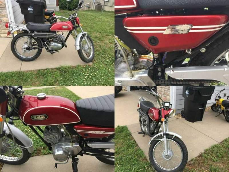 1971 Yamaha AT1-C Burgundy for sale craigslist photo