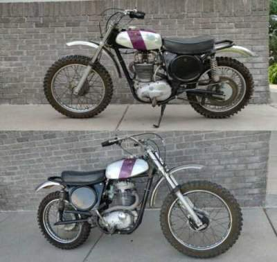 1972 BSA MX 500 Victor Silver for sale