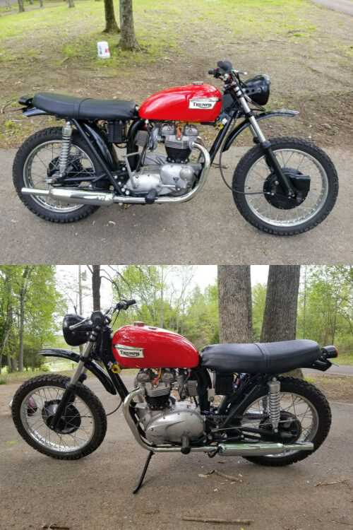 1972 Triumph Bonneville Red for sale craigslist