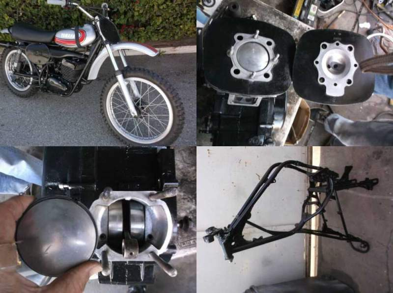 1972 Yamaha YZ Silver for sale
