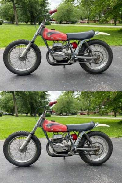1974 Bultaco Pursang 360 Red for sale craigslist photo