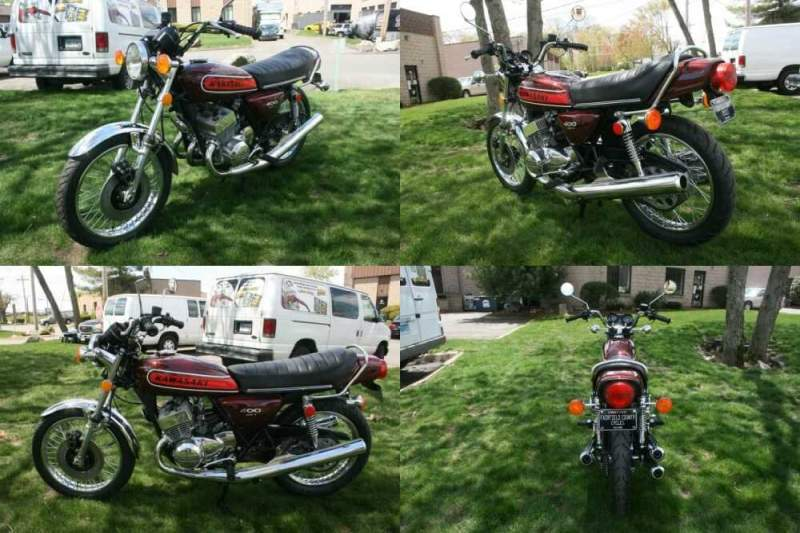 1974 Kawasaki S3 - 400 Candy Red for sale craigslist