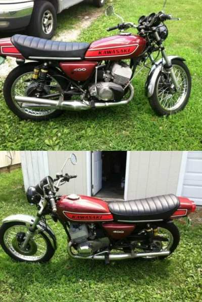 1974 Kawasaki S3 400 Red for sale craigslist photo