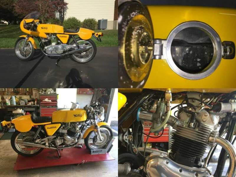 1974 Norton Norvil Commando Production Racer Yellow for sale craigslist photo