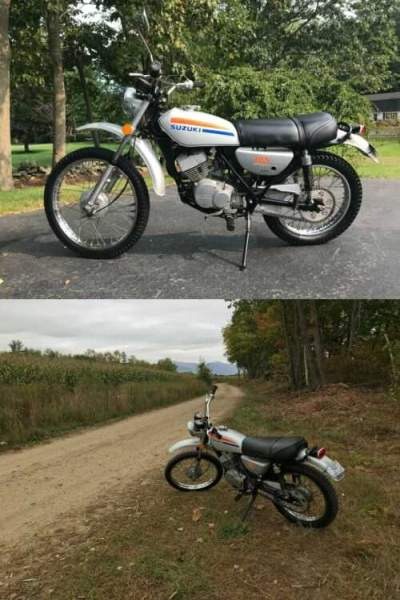 1974 Suzuki TS185S Silver for sale