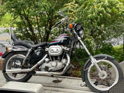 1975 Harley-Davidson Sportster Blue for sale craigslist