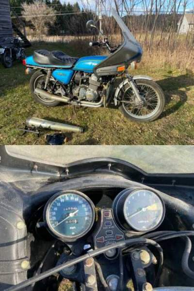 1975 Honda CB Blue for sale craigslist photo