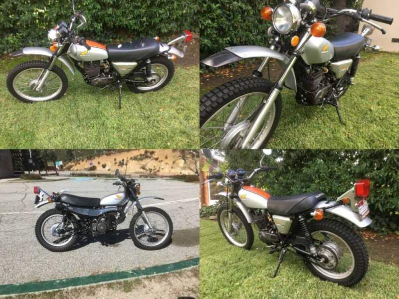 1975 Honda MT250 Elsinore Silver for sale