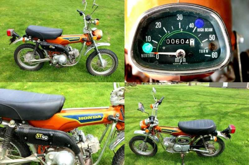 1975 Honda ST 90 Motorcycle Trail Bike Orange for sale craigslist