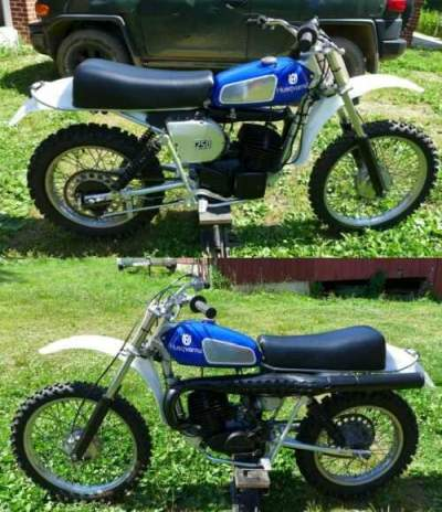 1976 Husqvarna WR250 Blue for sale craigslist photo