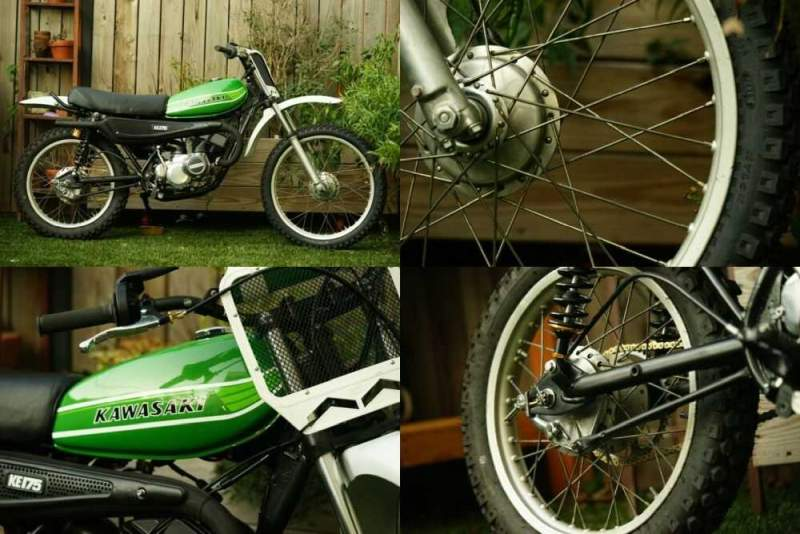 1976 Kawasaki KE175 Green for sale craigslist photo