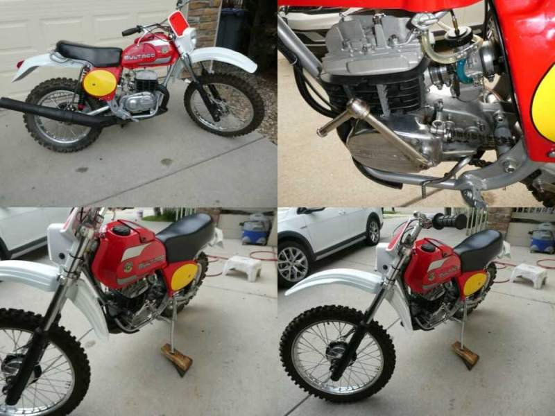 1977 Bultaco model 181 Frontera Red/silver for sale craigslist photo