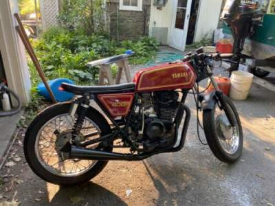 1977 Custom Built Motorcycles Yamaha XS400 Red for sale craigslist photo