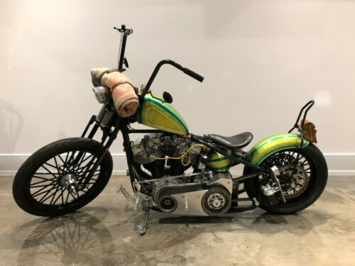 1977 Harley-Davidson Custom Rigid Chopper Green for sale craigslist photo