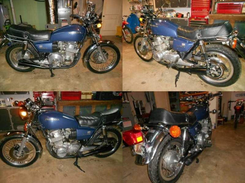 1977 Honda CB Blue for sale craigslist photo