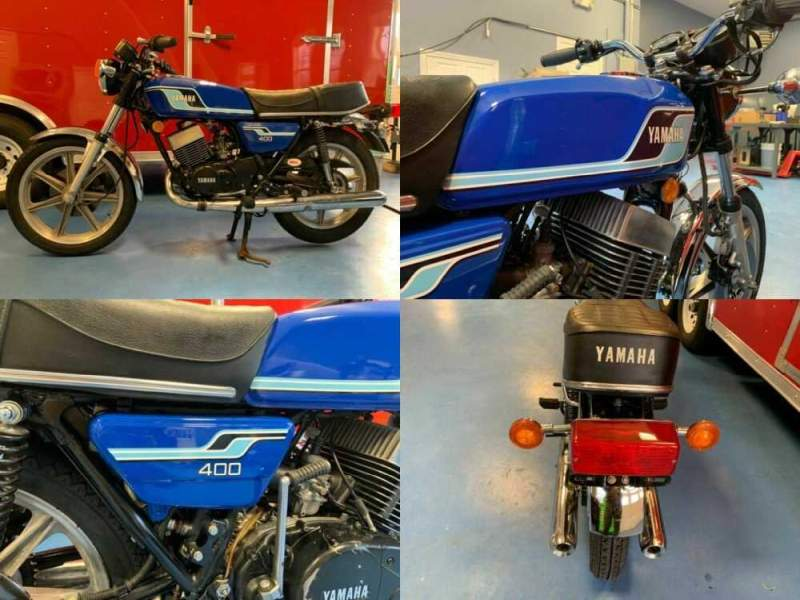 1977 Yamaha RD 400 Blue for sale craigslist photo