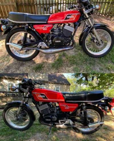 1977 Yamaha Rd400 Red for sale