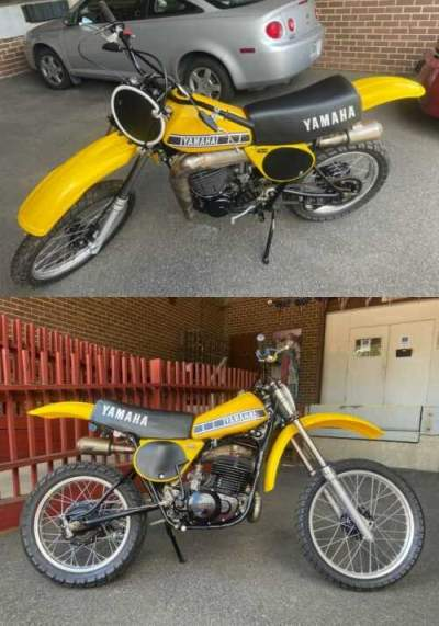 1977 Yamaha YZ Yellow for sale craigslist photo