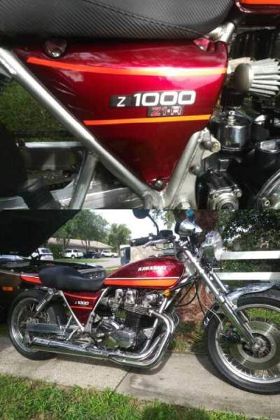 1978 Kawasaki Kawasaki 1000 Burgundy for sale