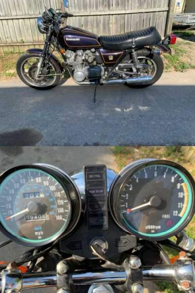 1979 Kawasaki KZ650SR Blue for sale craigslist photo