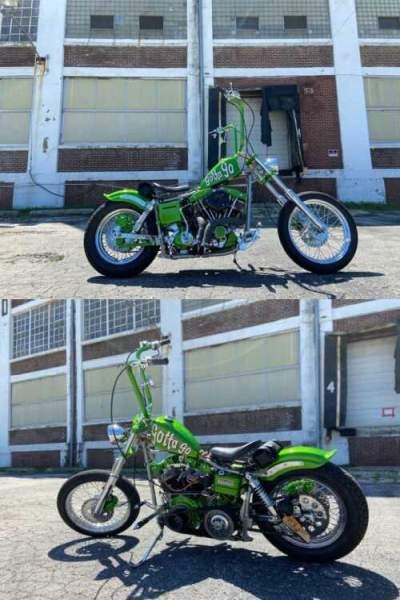 1980 Harley-Davidson Bobber Green for sale craigslist