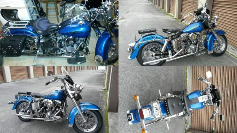 1980 Harley-Davidson FLH Blue w/ Silver Gray Crackle for sale