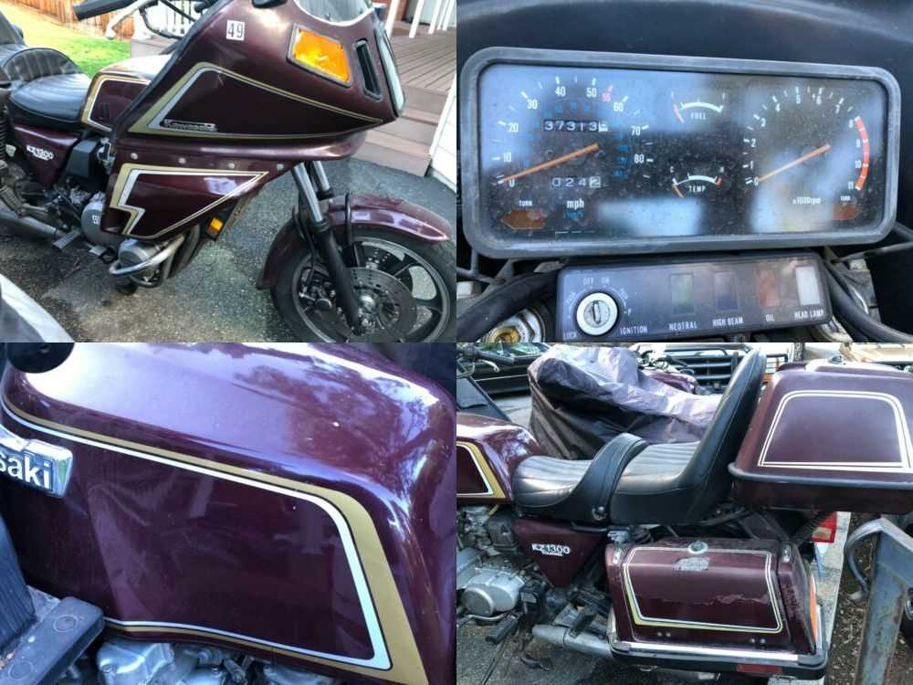 1980 Kawasaki KZ1300 Maroon for sale craigslist photo
