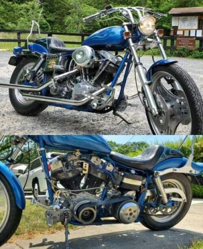 1981 Harley-Davidson FLH Blue for sale craigslist
