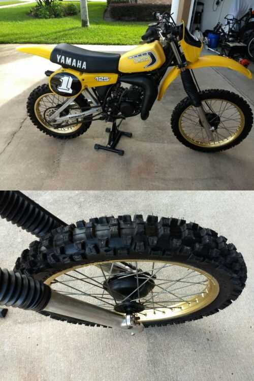 1981 Yamaha YZ Yellow for sale craigslist photo