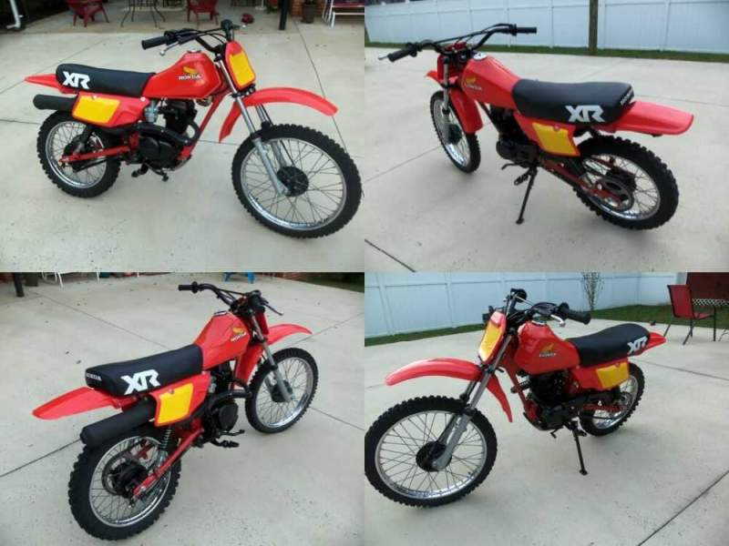 1983 Honda XR flash red for sale craigslist photo