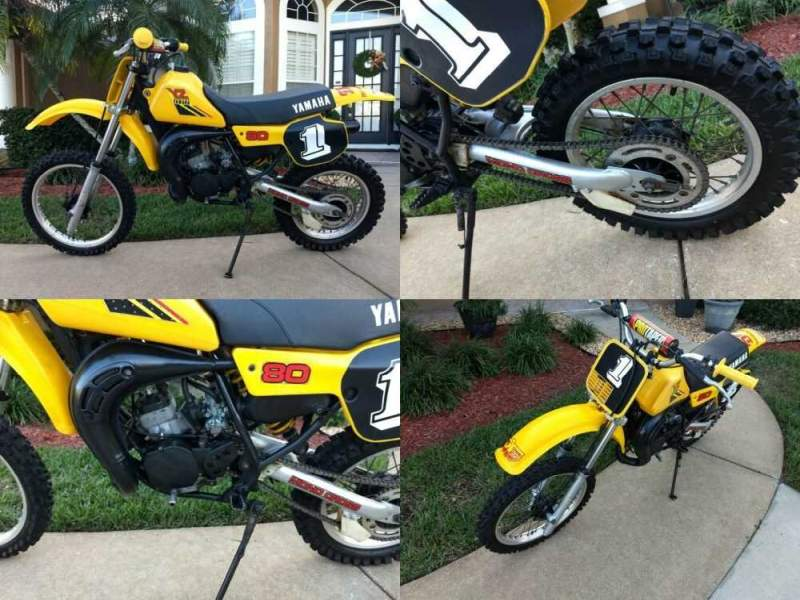 1984 Yamaha YZ Yellow for sale craigslist photo