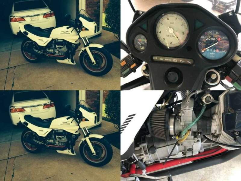 1985 Moto Guzzi Lemans White for sale craigslist photo