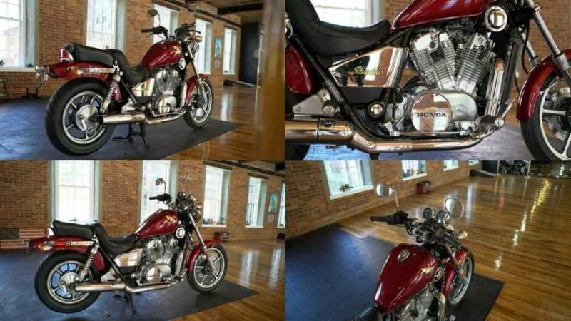 1986 Honda Shadow Red for sale craigslist photo