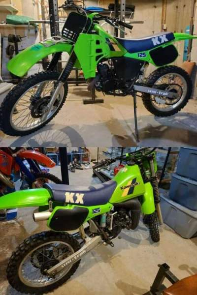 1986 Kawasaki KX Green for sale