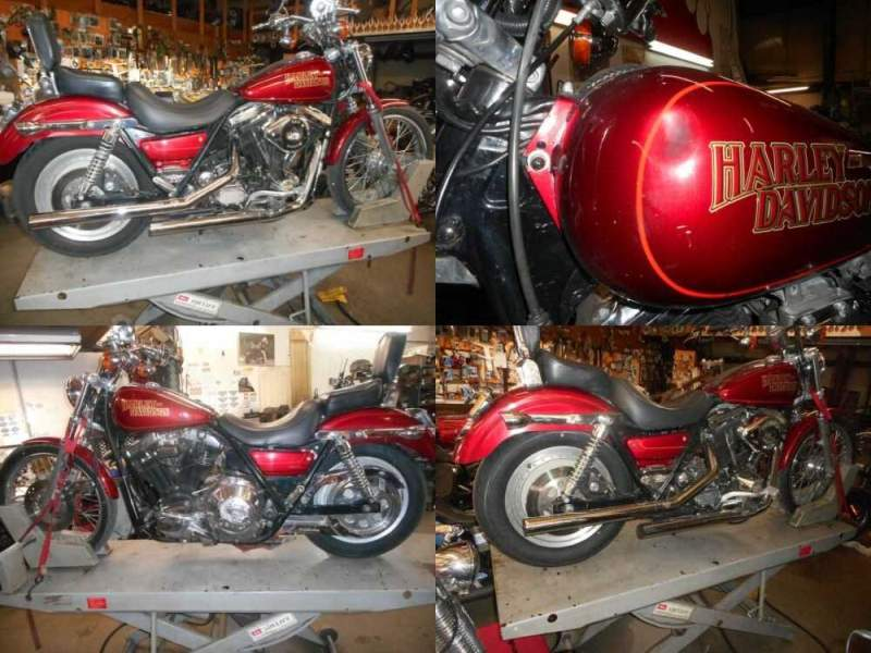 1987 Harley-Davidson FXR Red for sale craigslist photo