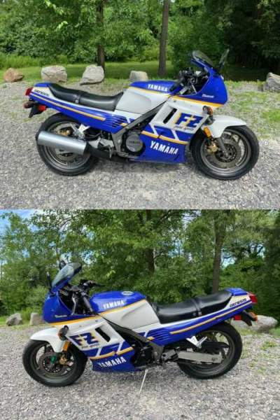 1987 Yamaha FZR700 FRZ 700 Purple for sale craigslist photo