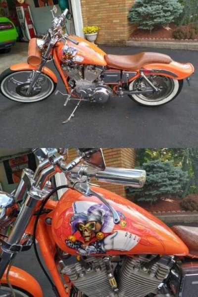1988 Harley-Davidson Custom Sportster Orange for sale craigslist