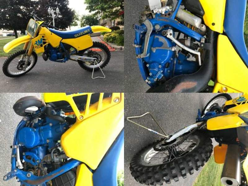 1988 Suzuki RM Yellow for sale craigslist photo