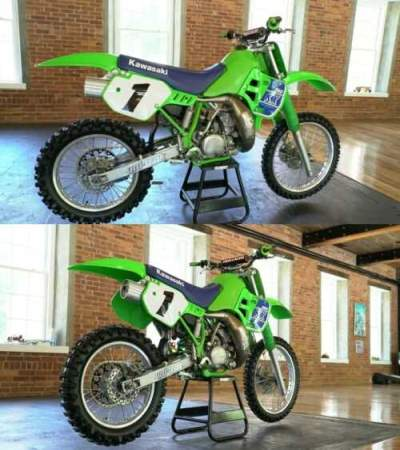 1989 Kawasaki KX Green for sale