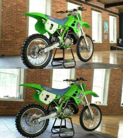 1990 Kawasaki KX Green for sale craigslist photo