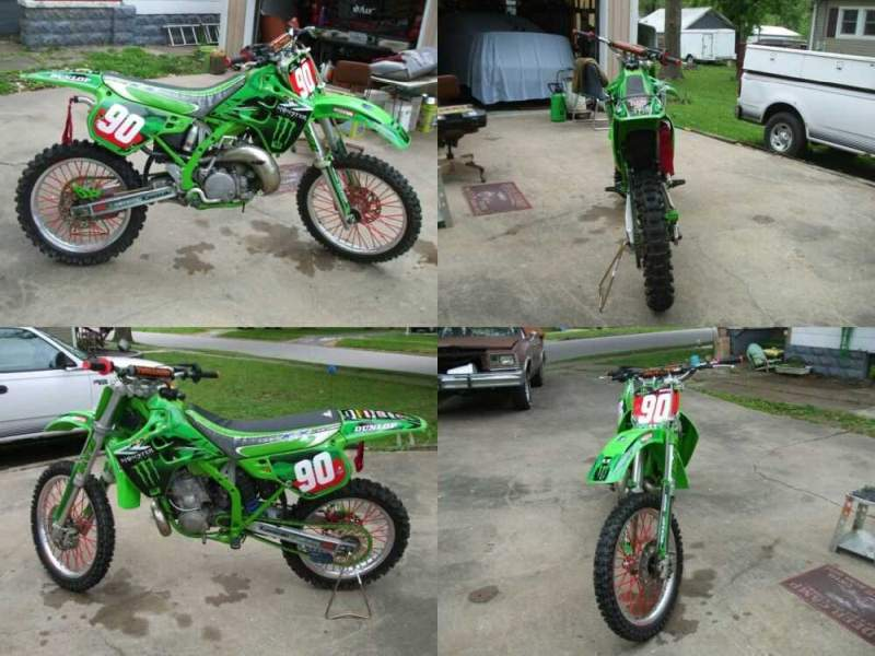 1990 Kawasaki KX Green for sale