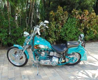 1993 Harley-Davidson Softail Turquoise for sale craigslist photo