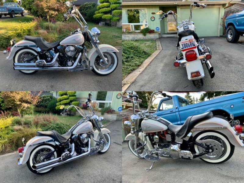 1994 Harley-Davidson Heritage softail special nostalgia flstn White for sale craigslist photo