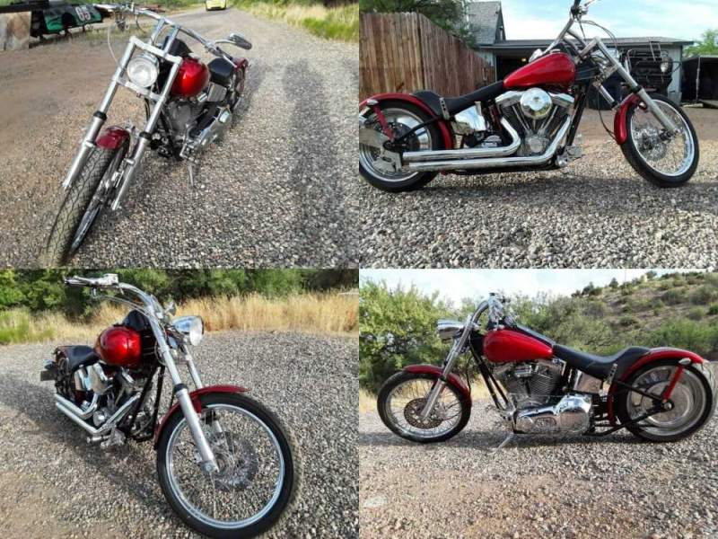 1997 Custom Built Motorcycles Chopper Candy apple red for sale