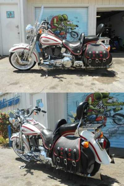 1997 Harley-Davidson Softail white and red for sale craigslist