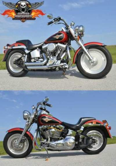 1998 Harley-Davidson SOFTAIL FATBOY ULTIMA 127ci FLSTF $8,000 in EXTRAS Two Tone Scarlet Red / Vivid Black for sale craigslist