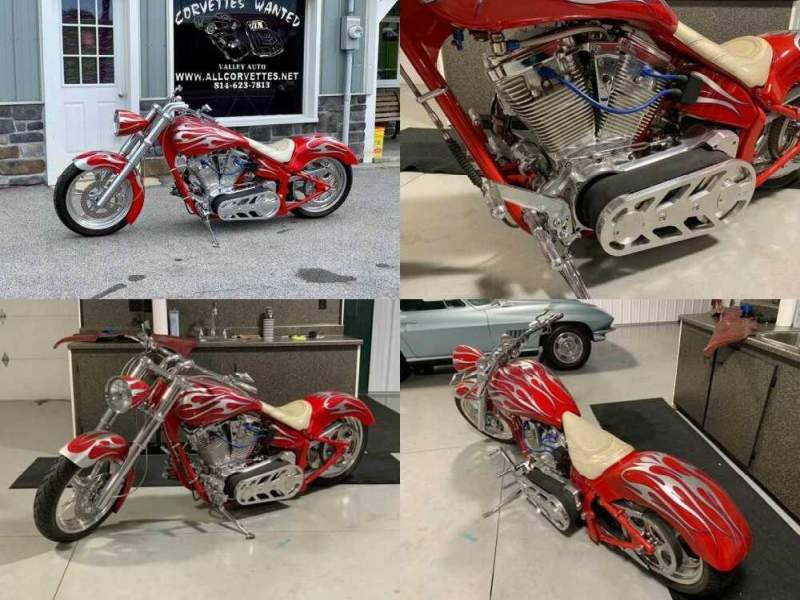 2000 Custom Built Motorcycles Pro Street Red for sale craigslist