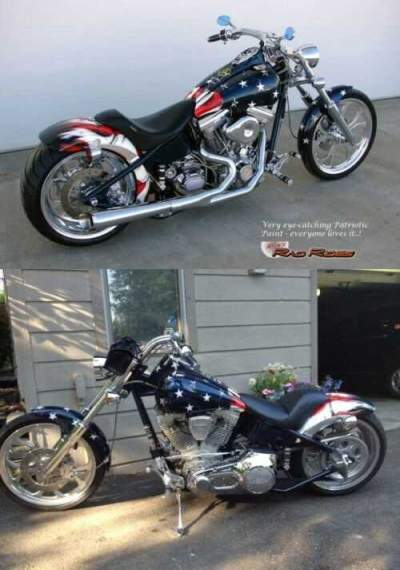 2002 Custom Built Motorcycles Chopper Blue for sale craigslist